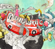 Illustration aus dem Kinderbuch Plajko