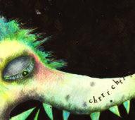 """Illustration aus dem Kinderbuch """"Der Wolf und die Dunkelheit"""""""